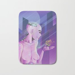 Lady cyborg Bath Mat