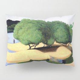 Sandbanks on the Loire river pastoral landscape painting by Felix Vallotton Pillow Sham