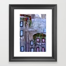 Houses in Milan in the evening Italy Framed Art Print