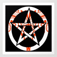 pentagram Art Prints featuring Pentagram by Littlefox