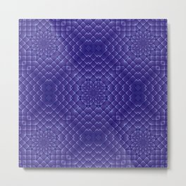 Little Blue Tiles Metal Print