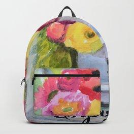 little farmhouse flower bird on chair Backpack