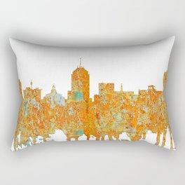 Fresno, California Skyline - Rust Rectangular Pillow