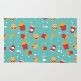 Burgers pattern Rug