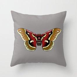Cecropia Moth Throw Pillow