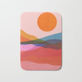 Abstraction_OCEAN_Beach_Minimalism_001 Bath Mat