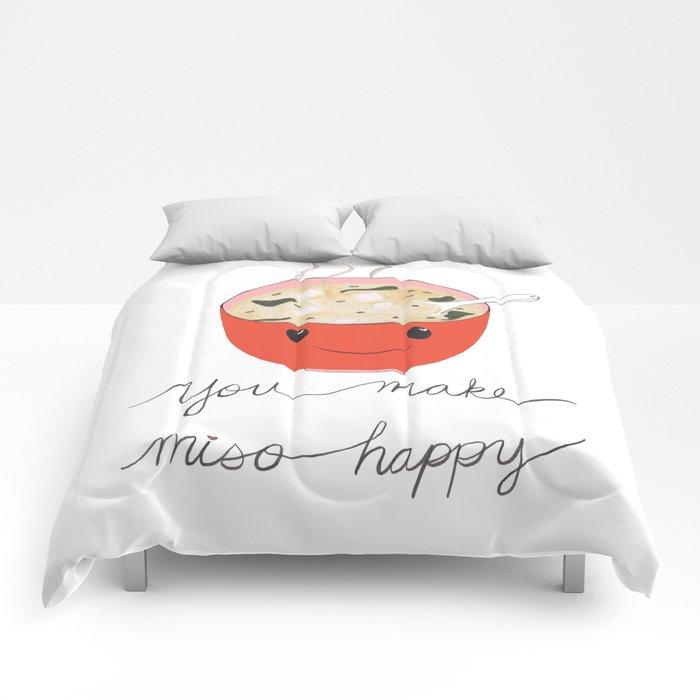 you make miso happy Comforters