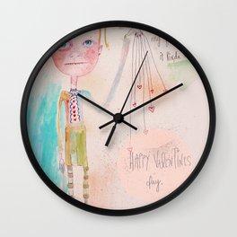 The Awkward Valentine Wall Clock