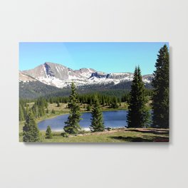 Little Molas Lake with Snowdon Peak Metal Print