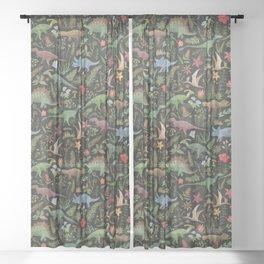 Dinosaur Jungle Sheer Curtain