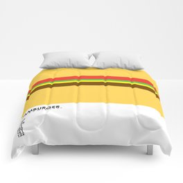 Pantone Food - Hamburger Comforters