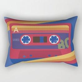 80s Retro Tape Deck Rectangular Pillow