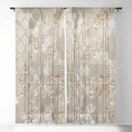 Mermaid Glitter Scales #5 #shiny #decor #art #society6 Sheer Curtain