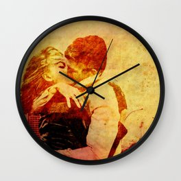 romance in the attraction park Wall Clock