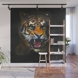 tiger in the dark Wall Mural