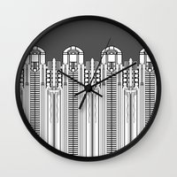 art deco Wall Clocks featuring Art deco by Textile Candy
