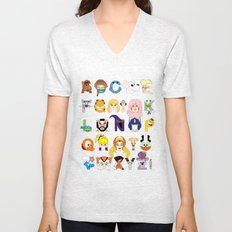 Child of the 80s Alphabet Unisex V-Neck
