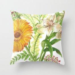 Sunrise Bouquet Throw Pillow