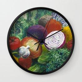 Garden Bounty Wall Clock