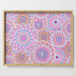 Mandala Maze Pink Serving Tray