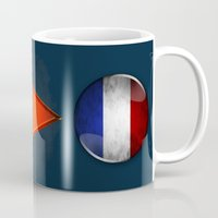 france Mugs featuring France by ilustrarte