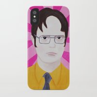 dwight iPhone & iPod Cases featuring Dwight by kate gabrielle