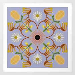 Banksia mandala Art Print