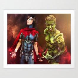 Heroes in Love Art Print
