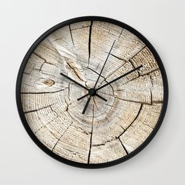 Wood Cut Wall Clock