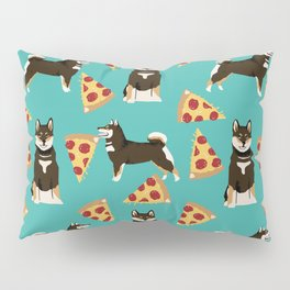 shiba inu pizza black and tan dog breed pet pattern dog mom Pillow Sham