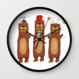 Otter Party And You Are Invited Wall Clock