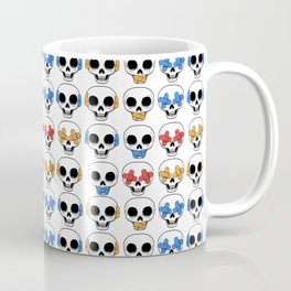 Cute Skulls No Evil II Pattern Coffee Mug