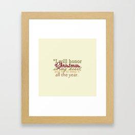 christmas quote Framed Art Print