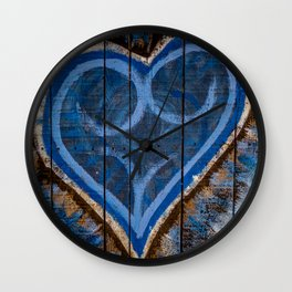 Blue is the color of love Wall Clock