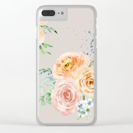 Pastel Floral Pattern 04 Clear iPhone Case