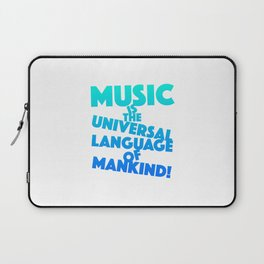 Musical quote gift for musicians, music lovers or djs Laptop Sleeve
