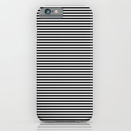 Horizontal Stripes in Black and White iPhone Case