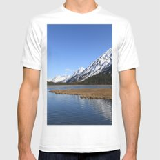 Tern Lake White MEDIUM Mens Fitted Tee