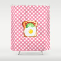 novelty Shower Curtains featuring Good morning by Anna Alekseeva kostolom3000