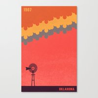 oklahoma Canvas Prints featuring Oklahoma by AtomicChild