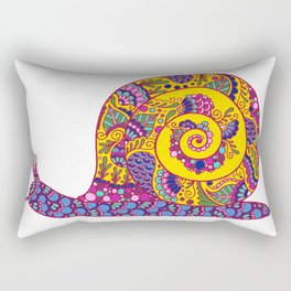 Colorful Snail Rectangular Pillow