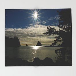 Last Sun's Rays For That Day Throw Blanket