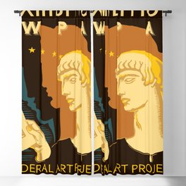 Federal Art Pennsylvania retro ad Blackout Curtain