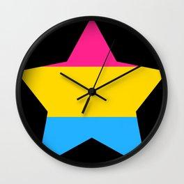 Pan* Pride Star Wall Clock