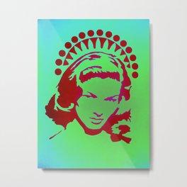 Bacall Beach Icon Metal Print