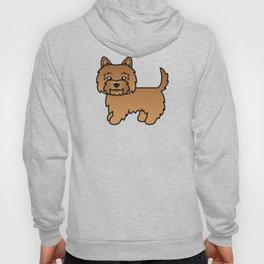 Cute Red Cairn Terrier Dog Cartoon Illustration Hoody
