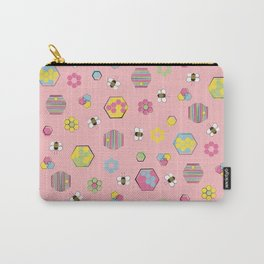 Honey Bees Life Pattern Carry-All Pouch