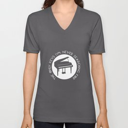 The Only Keys I'm Never Searching For - Piano Chords Unisex V-Neck