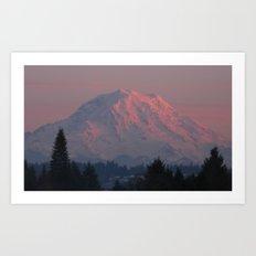 Mountain Blush Art Print