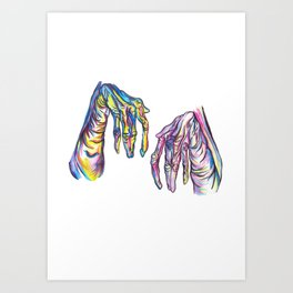 Take My Strong Hand Art Print